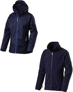 blau-gelb Farbe Wendbare Regenjacke in XL