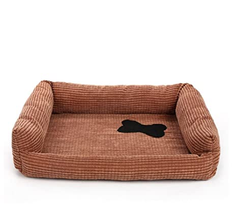 Cama ortopédica para perro, cama para perros, gatos y gatos de pana sofá cama