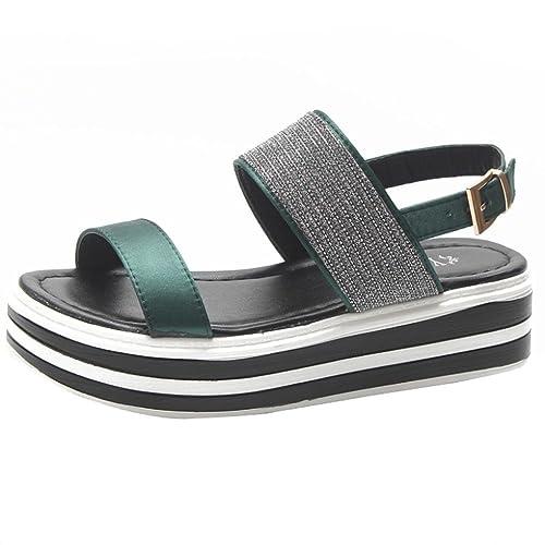 Cinnamou Sandalias Mujeres, Sandalias Mujer Tacon Doradas Y Negras Zapatos Mujer Verano 2018 Sandalias Plataforma Vestir: Amazon.es: Zapatos y complementos