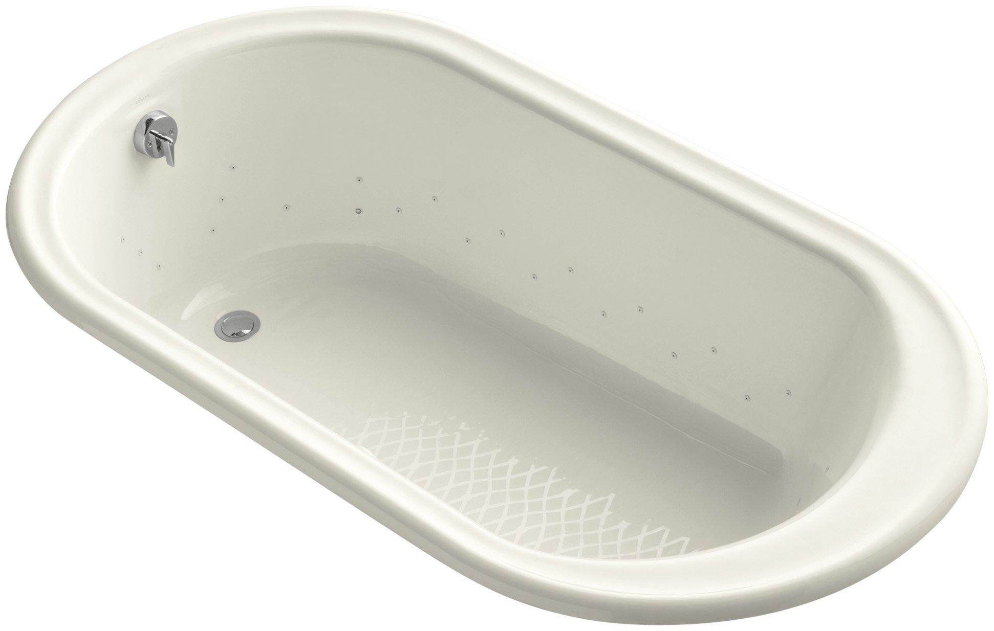 Kohler K-712-G96-96 Iron Works Bubblemassage 5.5Ft Bath with Biscuit Jet Color, Biscuit