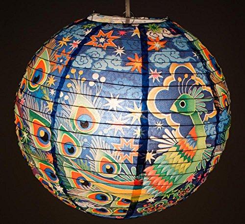 Blue Q Paper Lantern, Peacock
