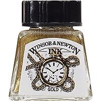Botella de tinta de dibujo Winsor & Newton, 14 ml, dorado