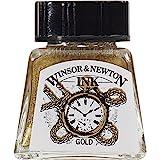 #9: Winsor & Newton Drawing Ink Bottle, 14ml, Gold
