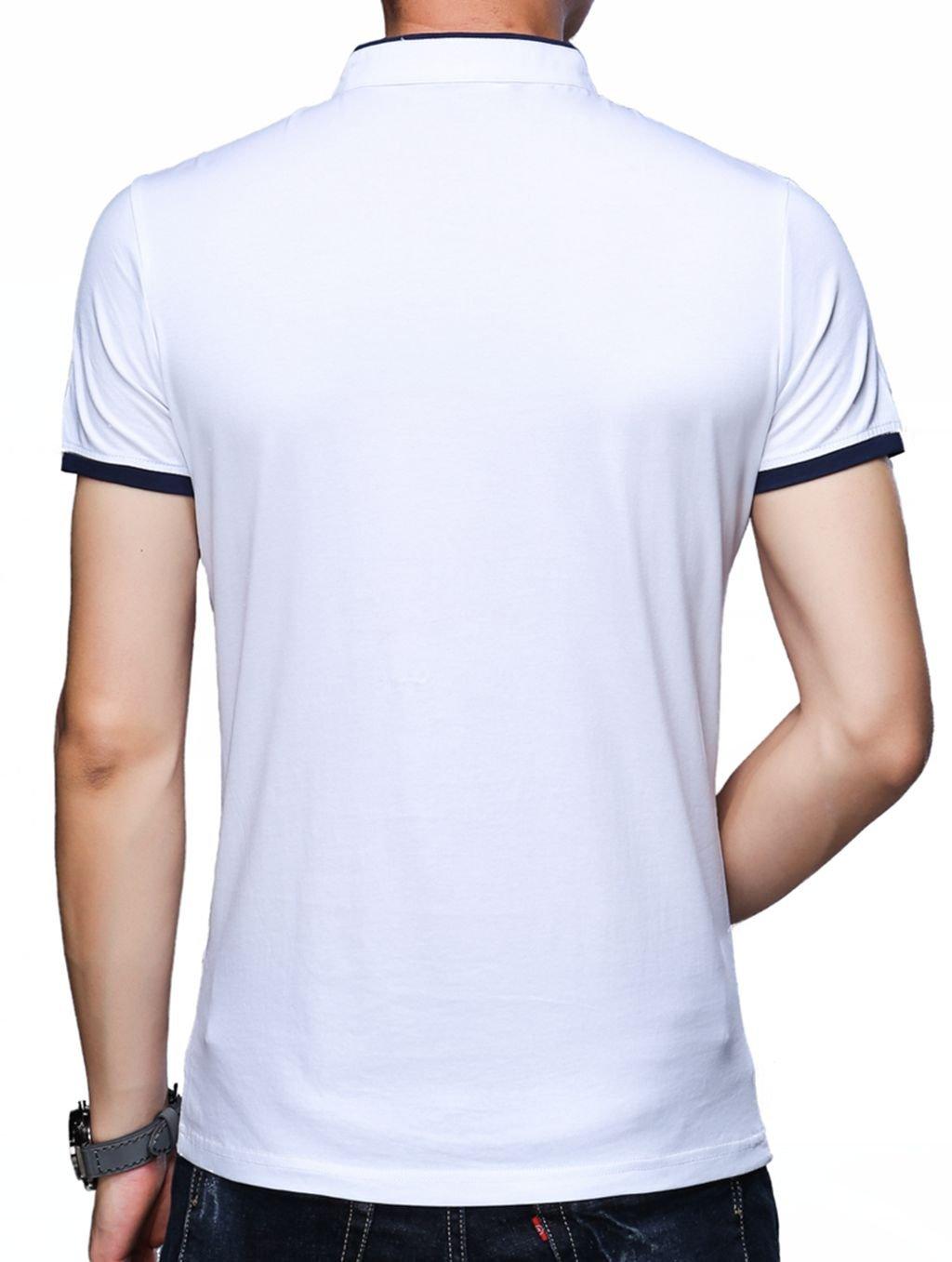 0e93b7634c15 KUYIGO Men's Casual Slim Fit Short Sleeve Henley T-Shirts Cotton Shirts by  KUYIGO (