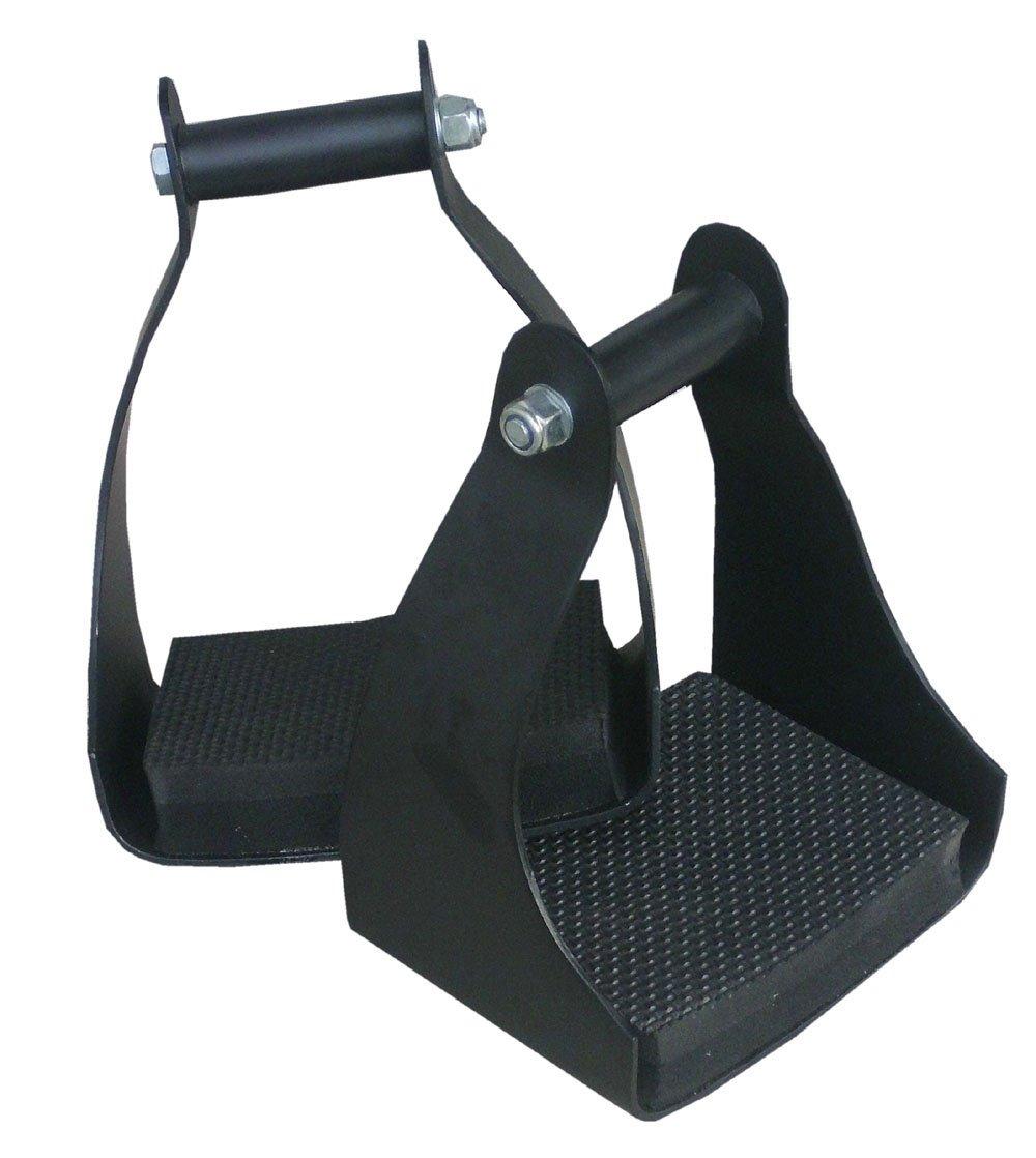AMKA Stirrups, Aluminium, Wide Surface, Ideal Weight Distribution–Lightweight Endurance Stirrups with Comfort Cushion