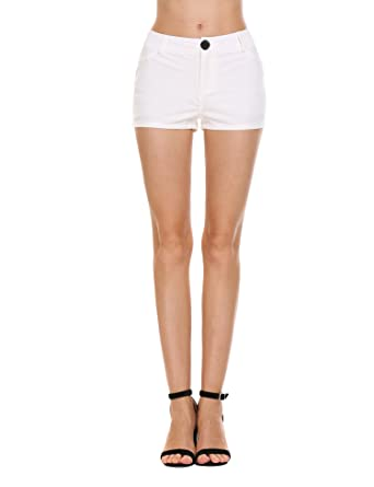 de2d7e3372 Zeagoo Mini Shorts Denim Stretchable Cut Off Low Rise Waist Sexy Micro  Jeans Hot Pants for Woman Girls Teen: Amazon.in: Clothing & Accessories