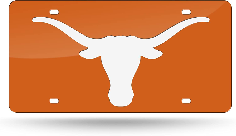 Rico NCAA Texas Longhorns Laser eingelegten Metall License Plate Tag Orange