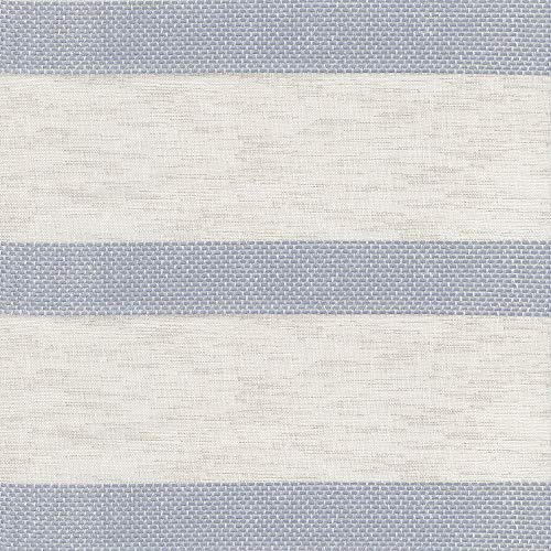 Adriatic Cream Beige Taupe Linen Metallic Stripes Woven Upholstery Fabric by the yard