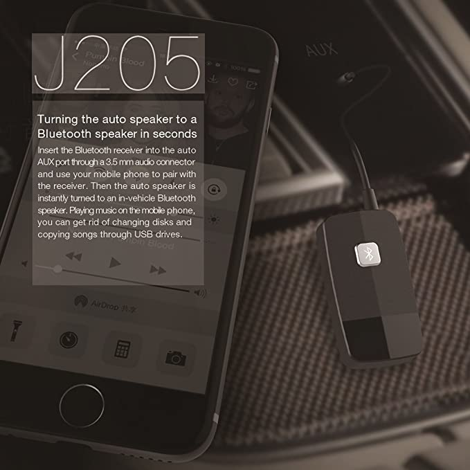 Friencity Bluetooth V4.1 Receptor de Audio Transmisión de música, Mini Adaptador inalámbrico de 3,5 mm / RCA Aux Audio Kit para automóvil Auriculares con ...