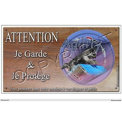 Panneau chien ou plaque Agility-Berger-des-pyrenees 20 cm