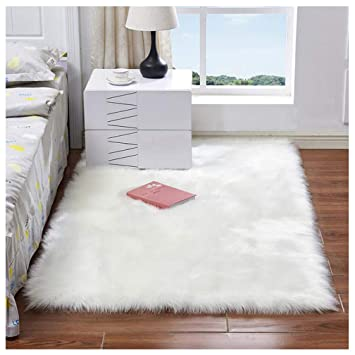 Marvelous Faux Fur Rug Soft Fluffy Rug 80 X 150 Cm Shaggy Rugs Faux Sheepskin Area Rugs Floor Carpets For Bedrooms Living Room Kids Rooms Decor White Download Free Architecture Designs Scobabritishbridgeorg