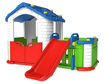 Spielhaus Mit Rutsche Plastik Finest Flaches Podest Stelzenhaus