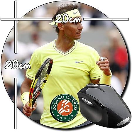 Rafa Nadal Roland Garros Alfombrilla Redonda Round Mousepad PC: Amazon.es: Electrónica