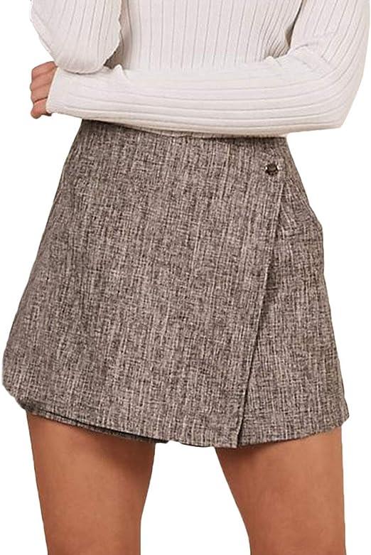 Faldas Cuero Mujer Primavera Moda Joven Falda Esencial Vintage ...