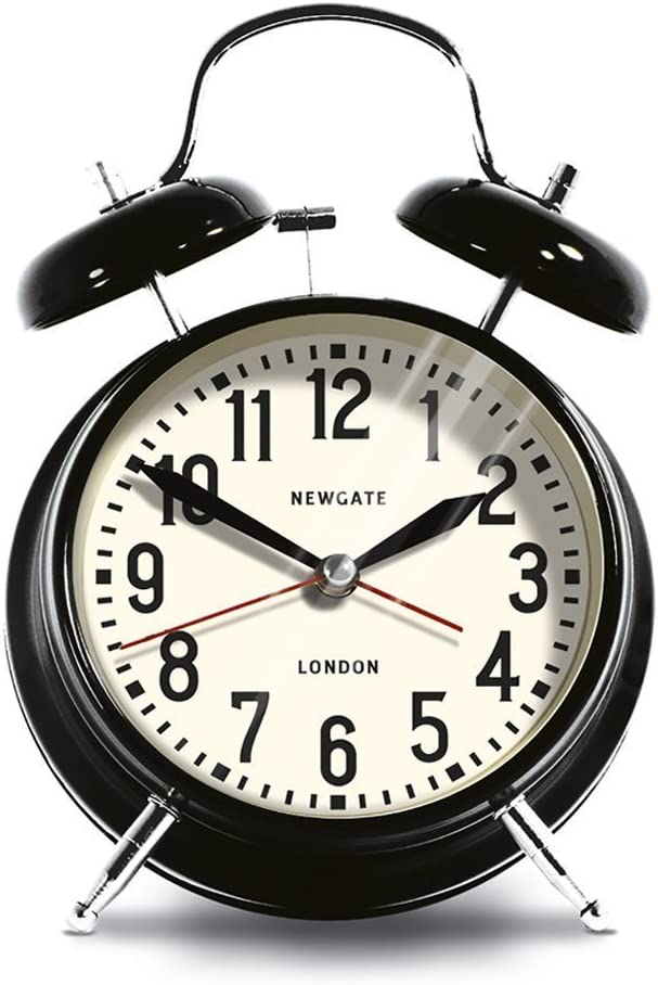 Newgate London Alarm Clock, Black