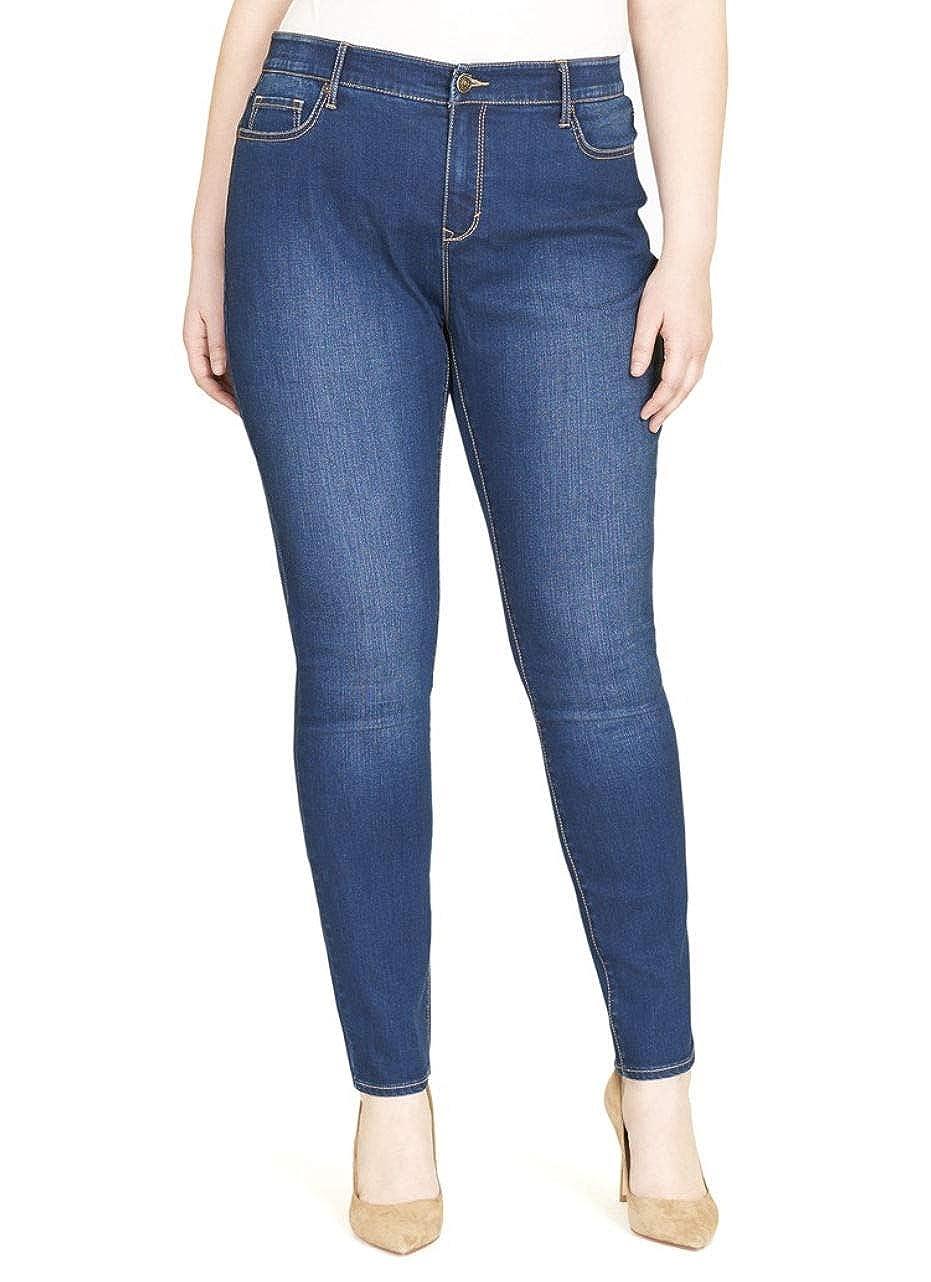 ab6d84dd884e42 Gloria Vanderbilt Women's Plus Size Curvy Fit Skinny Jeans at Amazon  Women's Clothing store: