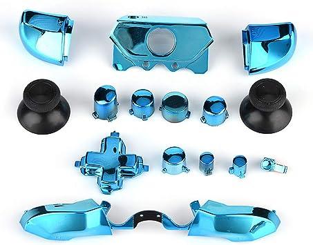 Ladieshow Button Kit, Kit de reemplazo de botón Completo para Xbox One, Adecuado para Xbox One 3.5mm Jack Controller(Azul): Amazon.es: Electrónica
