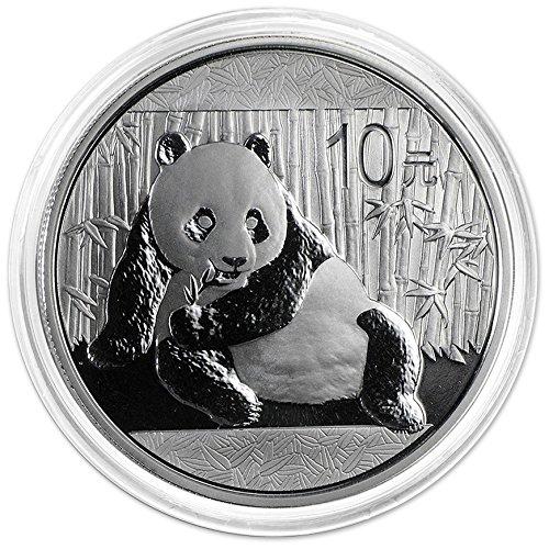 (2015 CN China Silver Panda In Capsule (1 oz) 10 Yuan Brilliant Uncirculated China Mint)