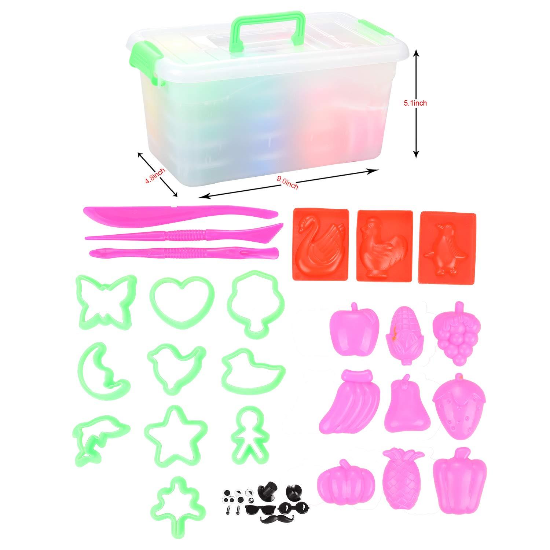 36 colori Plastilina Argilla Leggera DIY Modellazione Magia Argilla Aria Asciutto Gomma con Strumenti per Bambini Adolescenti Addestramento Studio