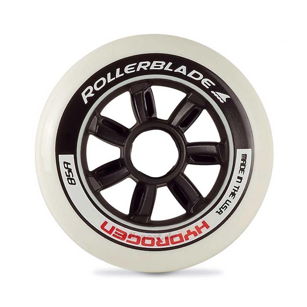 Rollerblade Hydrogen 110mm 85A Inline Skate Wheels - 8 Pack 2018-110mm/Black