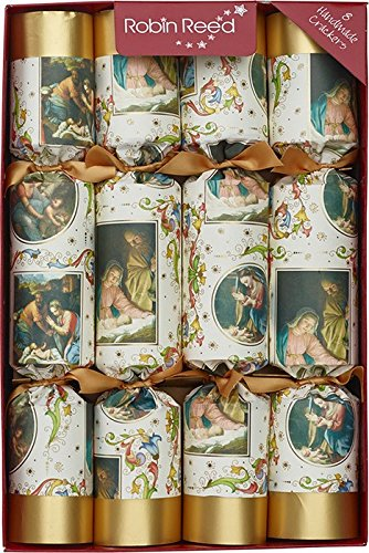 robin reed 8 nativity christmas crackers 61702