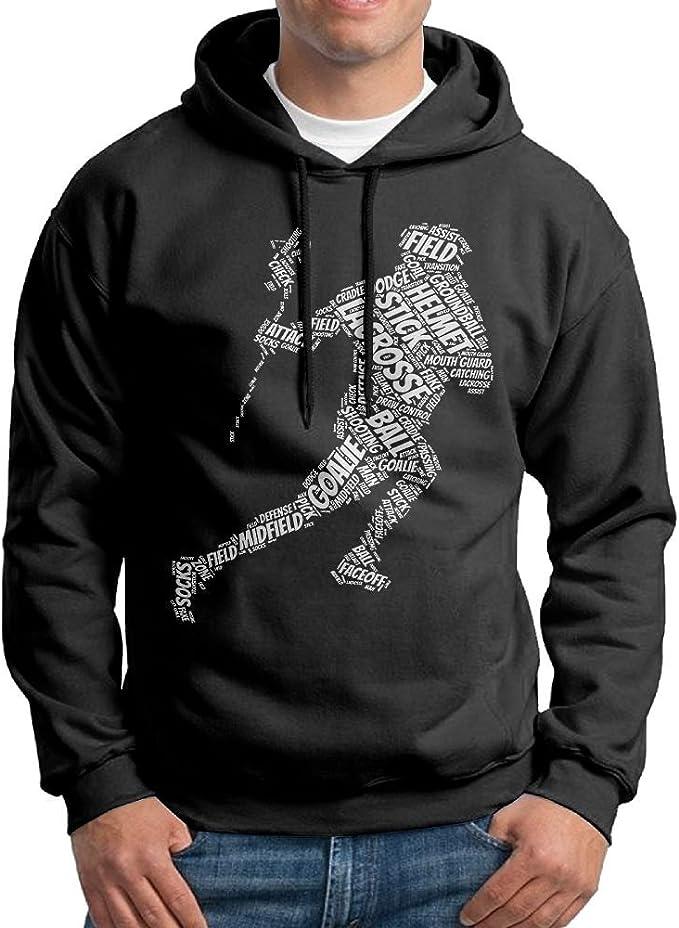 WYPGONE Lacrosse Hoodie Sweatshirts Mens Fleece Sweater