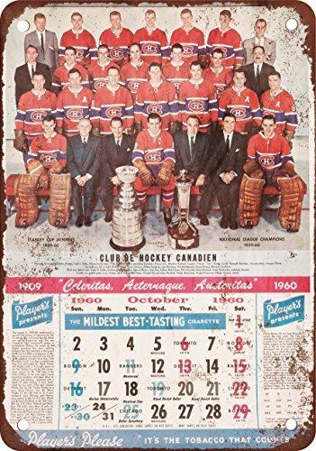 Calendario 1960.Calendario 1960 Montreal Canadiens Vintage Look Reproduction
