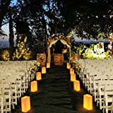 30 White Paper Lantern Luminary Bags- Perfect For Wedding, Reception, Party and Event Decor - Flame Resistant Paper (sunlight)