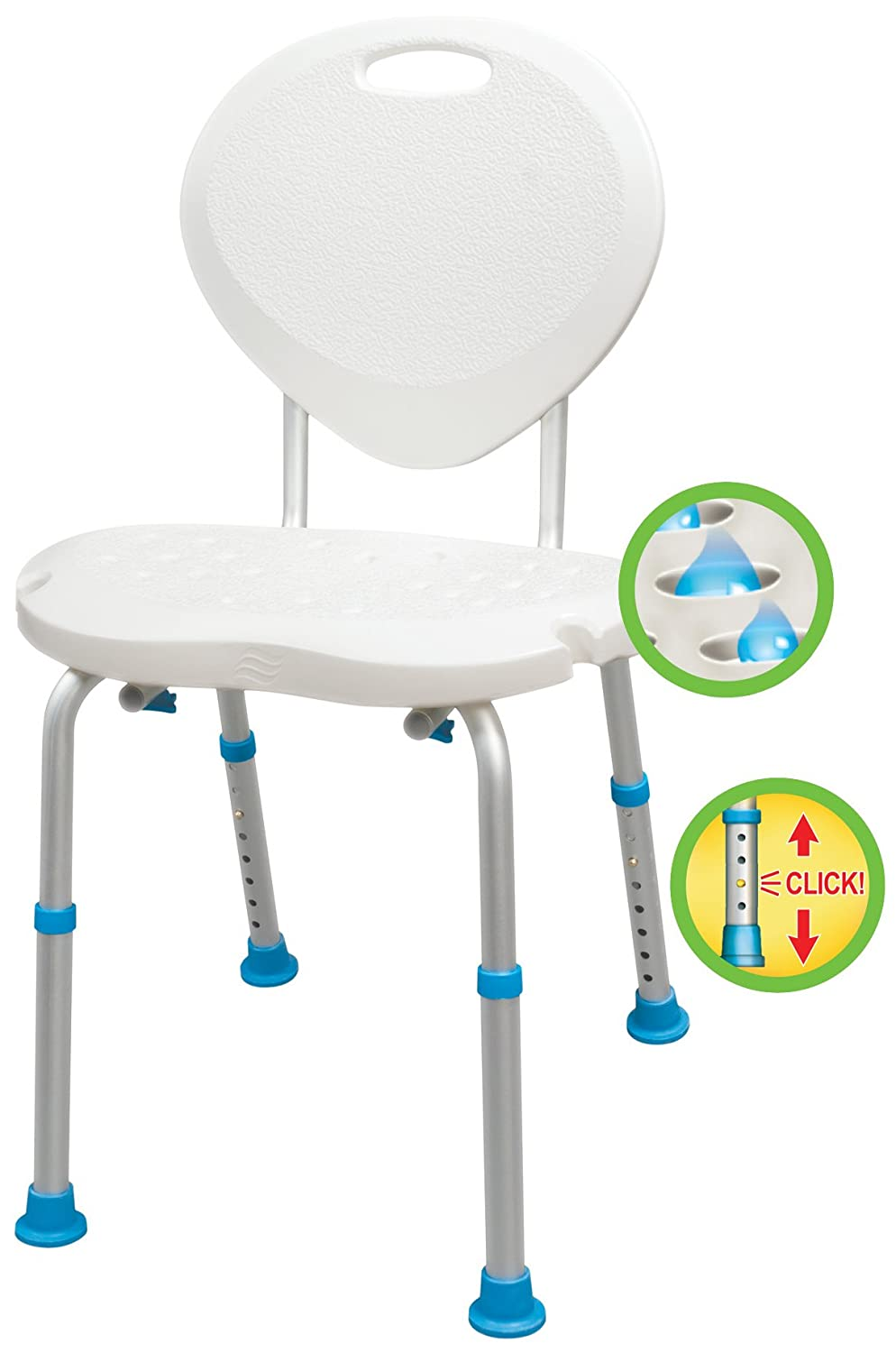 Amazon.com: Aquasense Adjustable Bath and Shower Chair with Non ...