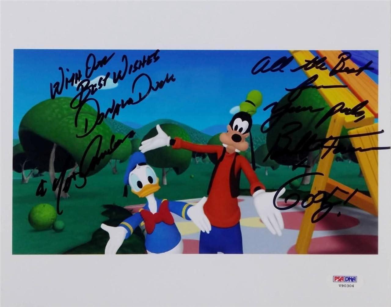Bill Farmer Tony Anselmo Signed Voice Of Donald Duck Goofy 8x10 Photo Psa V90304 At Amazon S Entertainment Collectibles Store
