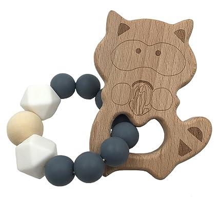 coskiss pulseras para bebé (madera de haya Cute Raccoon ...