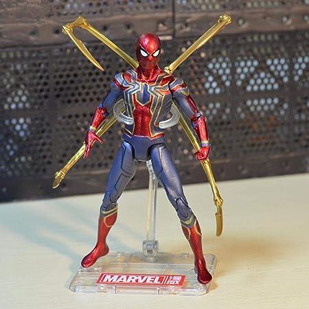 7 Pulgadas Iron Spider-Man Panther Capitán América Modelo ...