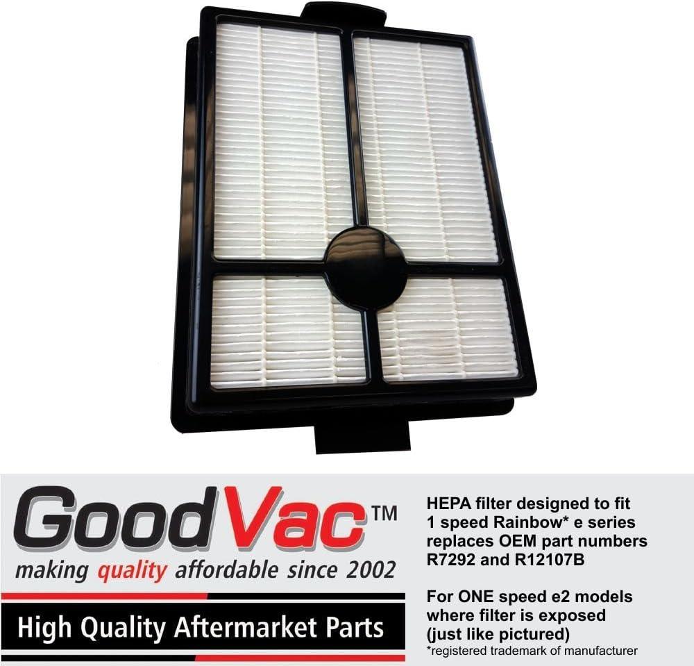 GOODVAC Filtro HEPA para 1 Velocidad E2 (aka E1) Rainbow vacío ...