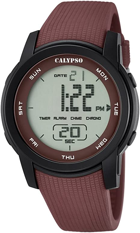 Calypso K5698/5 PUR UK5698/5 - Reloj digital de pulsera para hombre, color marrón