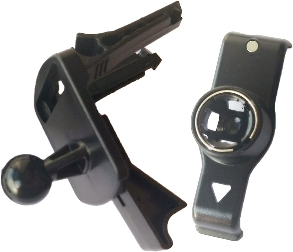 Montaje de Ventilación de Aire para Garmin Nuvi 2415 2440 2445 2450 Ajustable de Color Negro