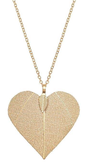 c4862101e258 Kiara joyas chapado en oro grandes con forma de corazón colgante de  esqueleto (sobre a
