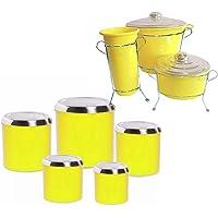 Kit de pia mantimento potes lixeira esponja detergente 012