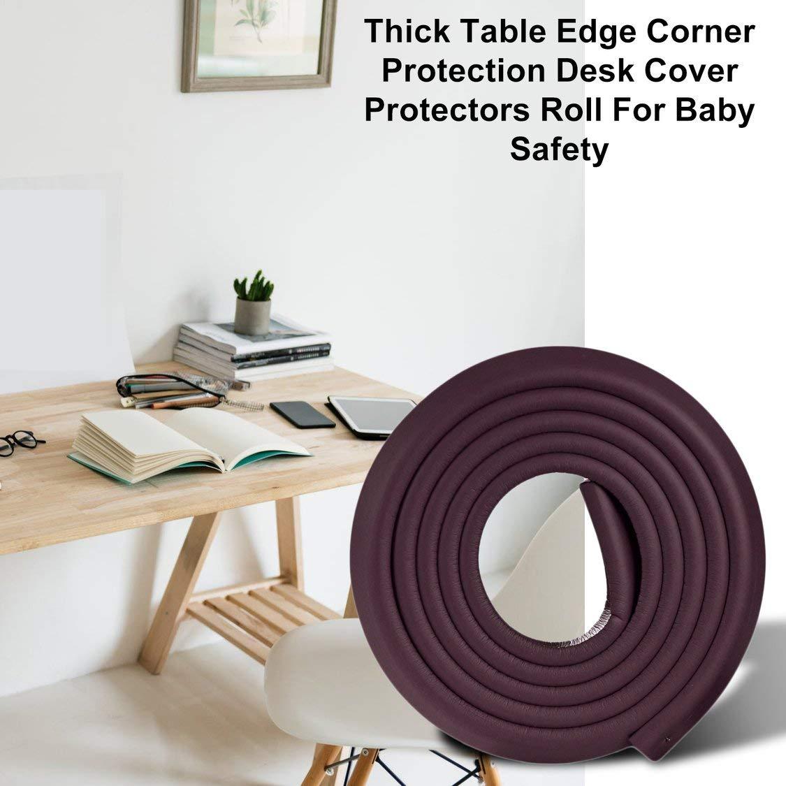 2M en forma de U Muebles extra gruesos Borde de mesa Corne r Protecciones Cubierta de escritorio Protectores Espuma Baby Safety Bumper Guard