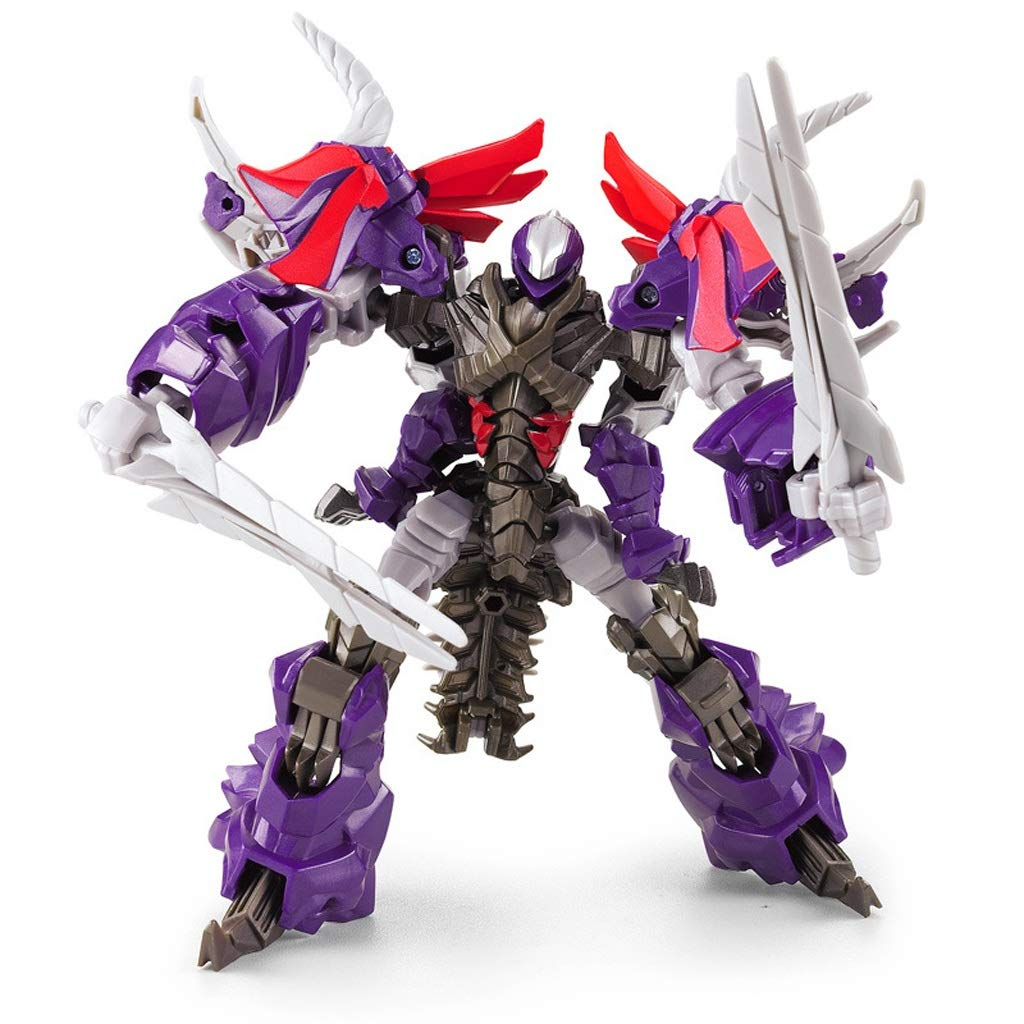 CCJW Transforming Toys Transformers - Alloy Edition Triceratops Deformation per Bambini Robot Model Decoration Gifts Collection Crafts (High 21CM)