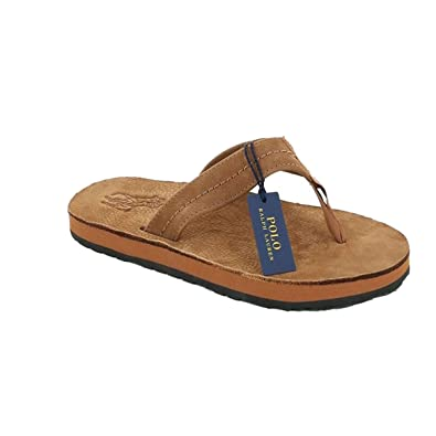 CHANCLAS POLO RALPH LAUREN - XZA6J-BRO-T44: Amazon.es: Zapatos y ...