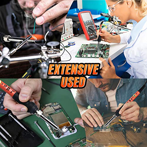 Adjustable 60W Electric Soldering Iron - JelBo 110V Portable Solder Irons, Fast Heat Temperature Mini Soldering Irons for DIY, Small Electronics Repair Tool Kit(Orange)