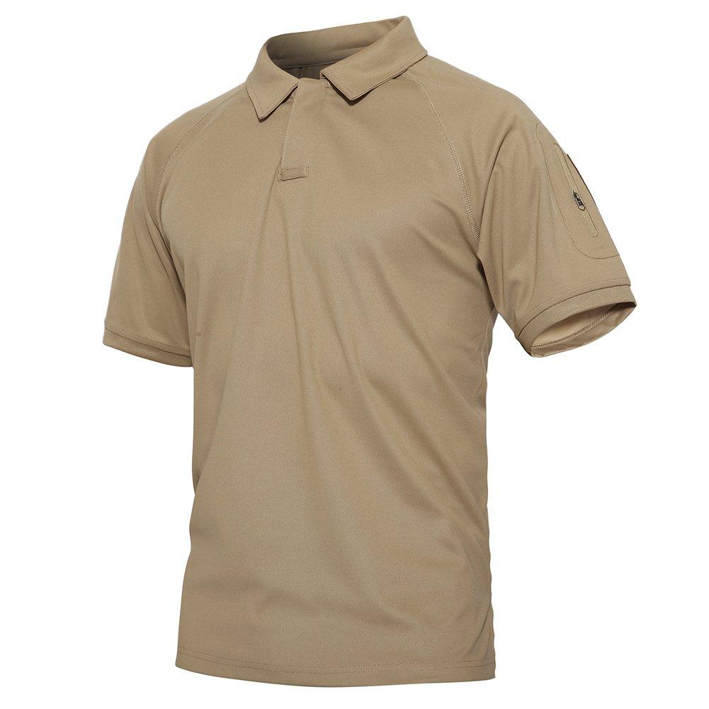 TACVASEN Men's Tactical Millitary Performance Short Sleeve Polo Shirts XLTS-113
