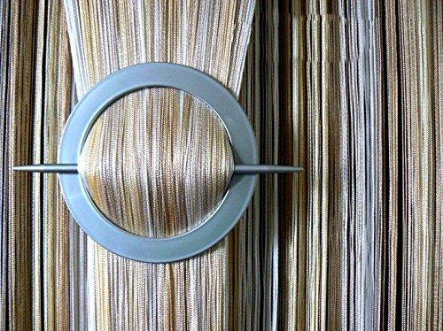 AeMBe - Fadenvorhang Fadengardine Türvorhang - 150cm X 250cm - (Weiß / Ecru / Beige) Beschattet - Höchste Qualität