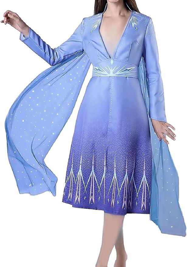 KIRALOVE Disfraz Elsa Mujer - niña - Carnaval - Disfraces para ...