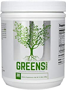Universal Nutrition Greens Powder, Acai Berry/Kale/tuermic, 300 Gram