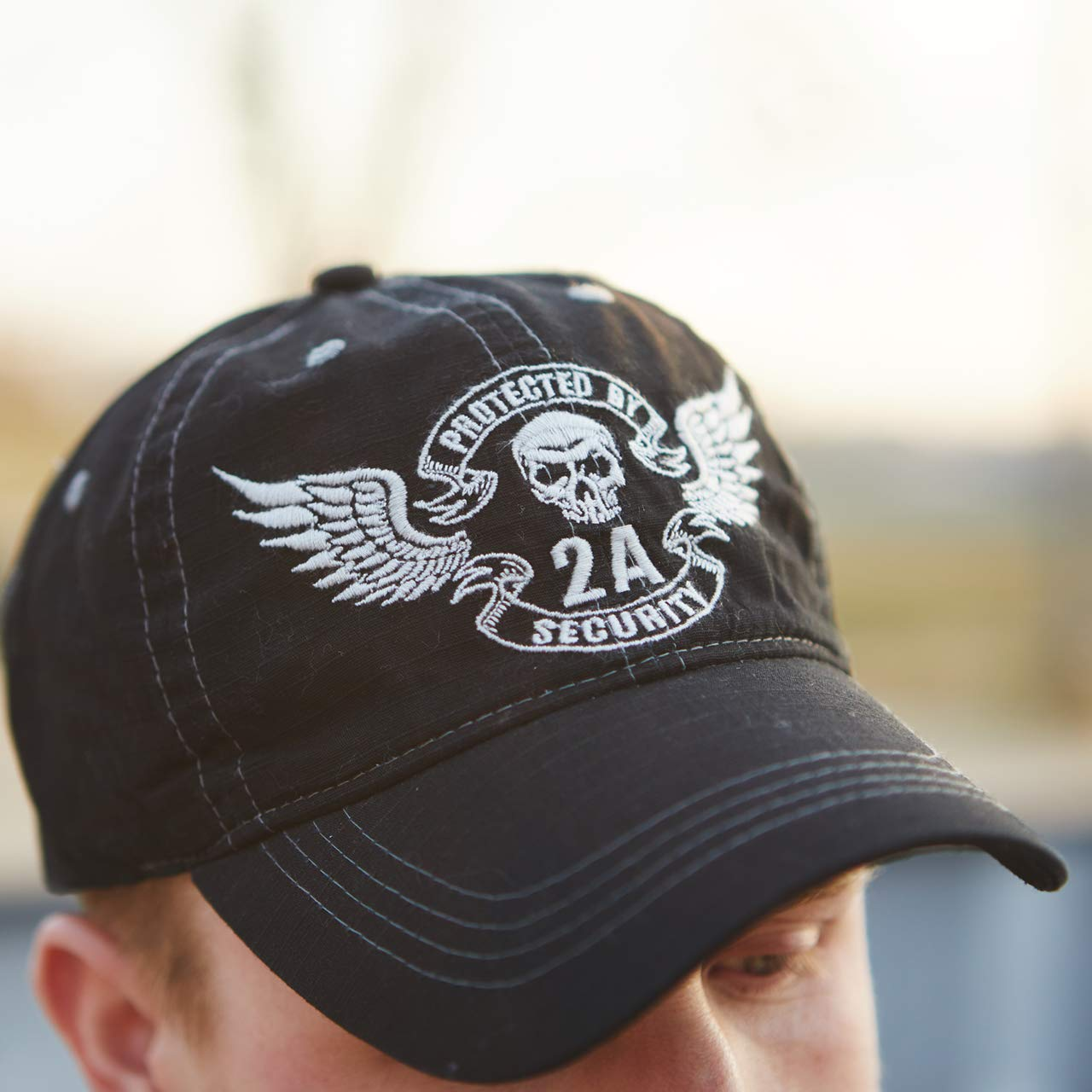 one Size Bonehead Outfitters Mens 2A Security Black Cap