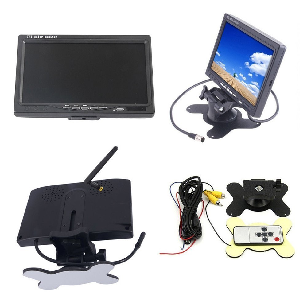 Wireless Vehicle 2 x Parking System 18 Telecamera a infrarossi per visione notturna 7 800 x 480 HD TFT LCD Monitor LCD a colori per rimorchio per camion RV