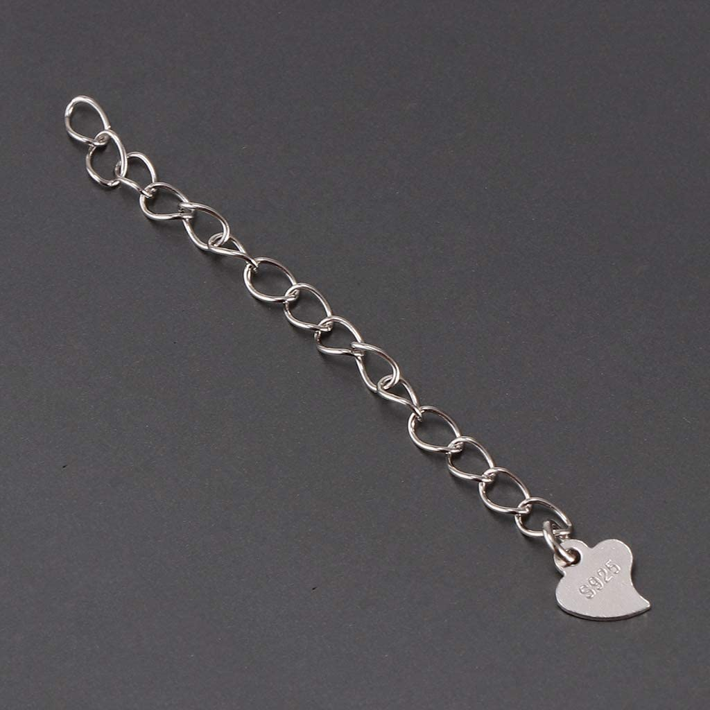 Gold Style 4-5.3cm Premium 925 Sterling Silver Chain Extension Bracelet Necklace Extenders Craft