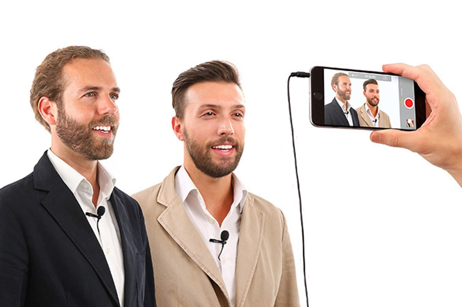 """Premium 196"""" Dual-head Lavalier Microphone, Professional Lapel Clip-on Omnidirectional Condenser Mic For Apple IPhone,Android,PC,DSLR,Recording Youtube,Interview,Video Conference,Podcast - FREE BONUS"""