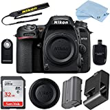 Nikon D7500 24.2 MP DSLR Camera (Body Only) Bundle includes High Speed 32GB Memory Card +Professional Accessory Bundle